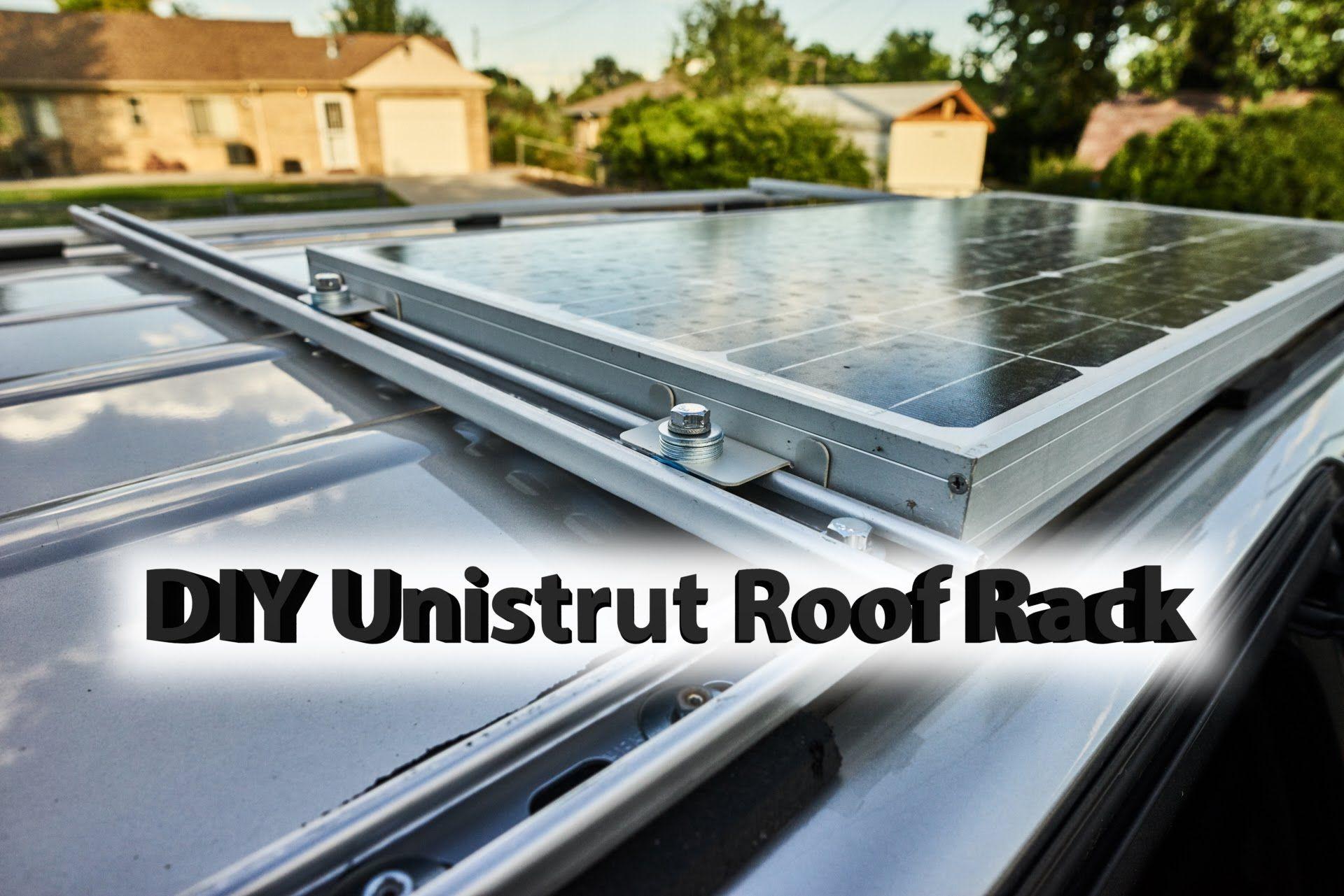 Diy Roof Rack With Solar Panel Honda Odyssey Youtube Solar