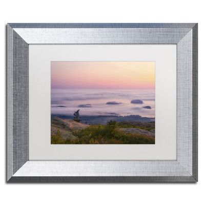 """Trademark Art """"Islands in the Fog"""" by Michael Blanchette Framed Photographic Print Size: 11"""" H x 14"""" W x 0.5"""" D"""