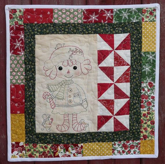 Candy Cane RAGGEDY Ann Mouse mice PDF PATTERN - Quilt christmas ... : raggedy ann quilt pattern - Adamdwight.com