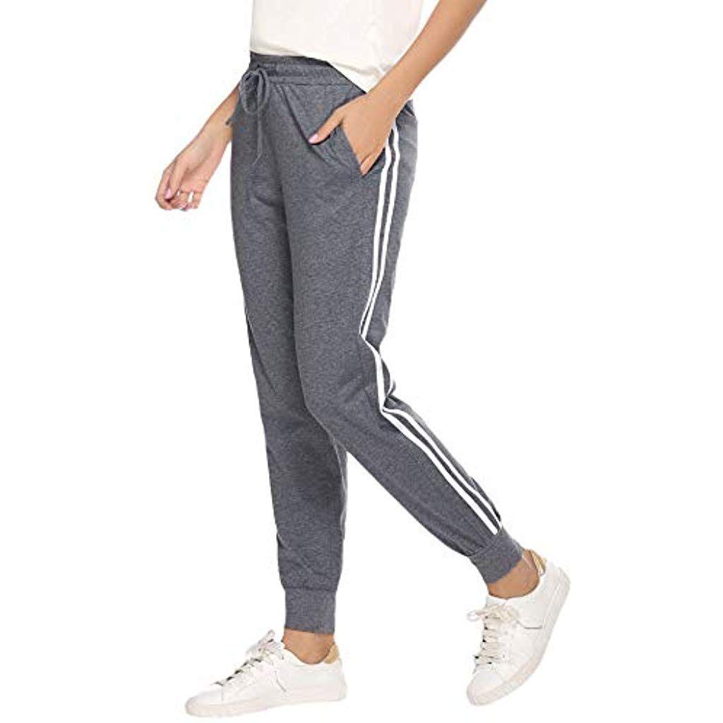 Damen Sport Jogginghose Trainingshose Gym Sweatpants Freizeithose Harem Hosen 40