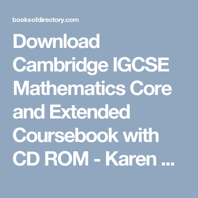 Download Cambridge Igcse Mathematics Core And Extended Coursebook