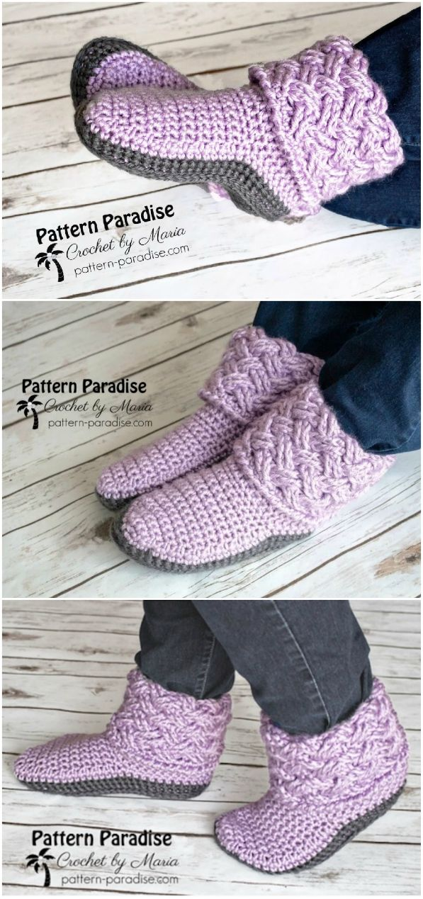 Crochet Slippers Free Pattern Ideas You'll Love #crochetclothes