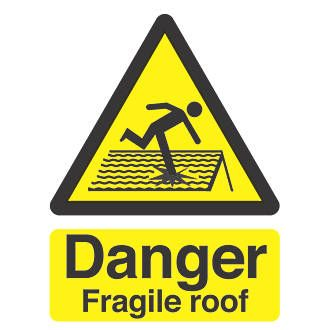 Screwfix `Danger Fragile Roof`` Sign 210 x 150mm 30723 For indoor or outdoor use. Easily punched or drilled for fixing. Compliant with all British standards and legislation. http://www.MightGet.com/april-2017-1/screwfix-danger-fragile-roof-sign-210-x-150mm-30723.asp