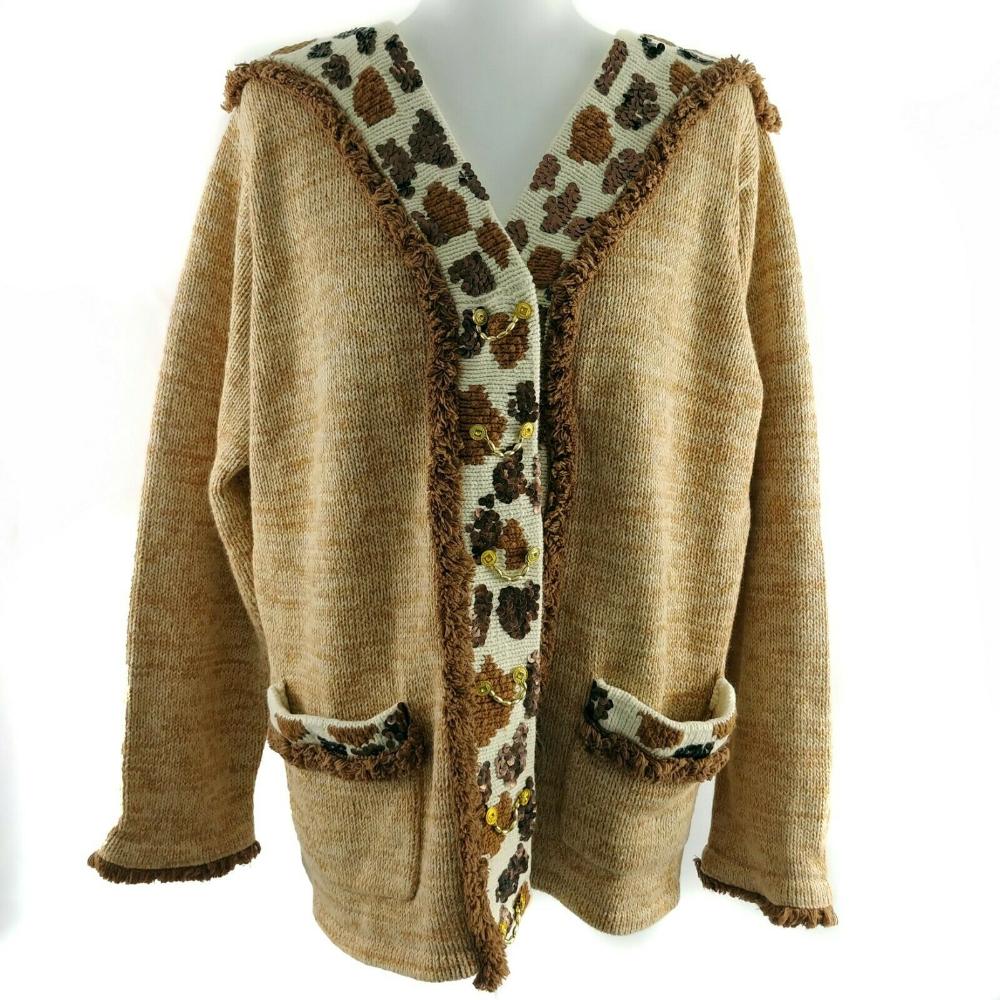 Storybook Womens Sweater Size 1x Bedazzled Giraffe Cardigan Brown Ivory Ebay Sweaters For Women Black Cardigan Women Outerwear Women [ 1000 x 1000 Pixel ]