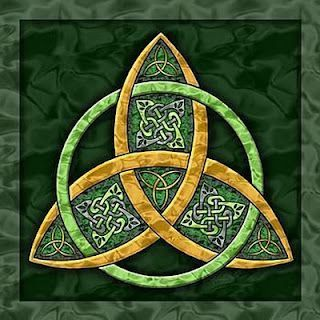 This symbol has the circle archetype as well as the power of three. The colors of green and gold also represent fertility and wealth