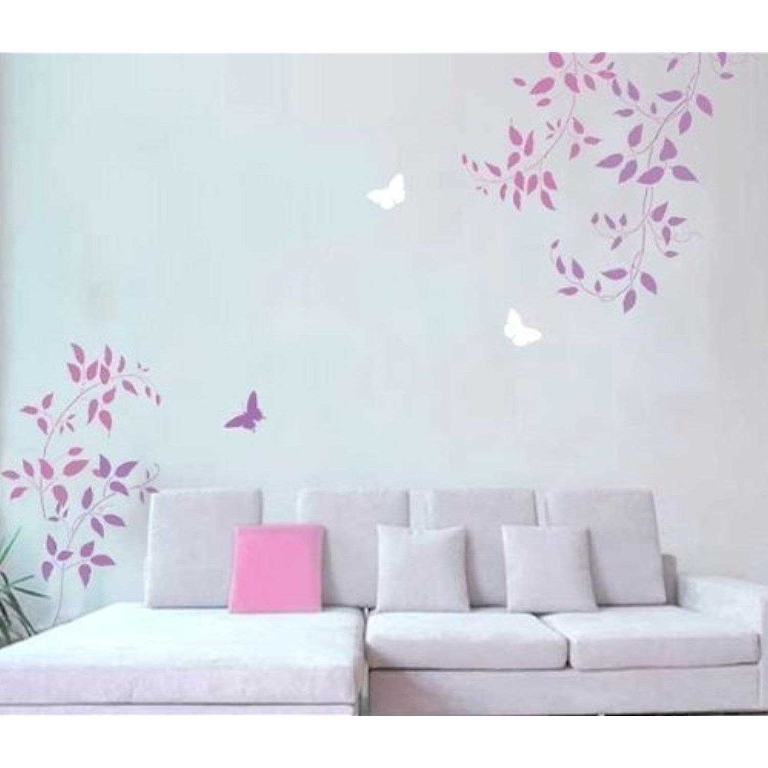 Wall stencils clematis vine 3pc kit easy wall decor with wall stencils clematis vine 3pc kit easy wall decor with stencils better than decals amipublicfo Images
