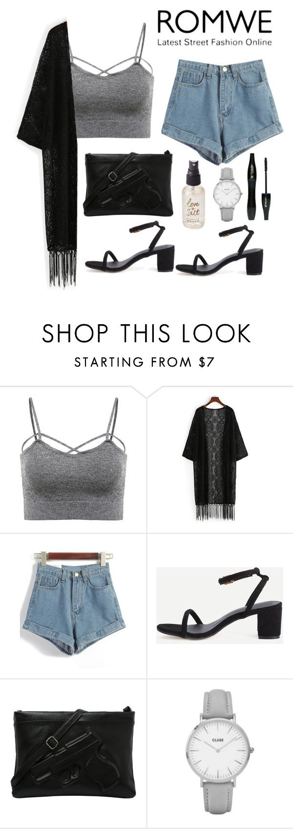 """Sin título #555"" by bethsalash ❤ liked on Polyvore featuring Topshop, Olivine and Lancôme"