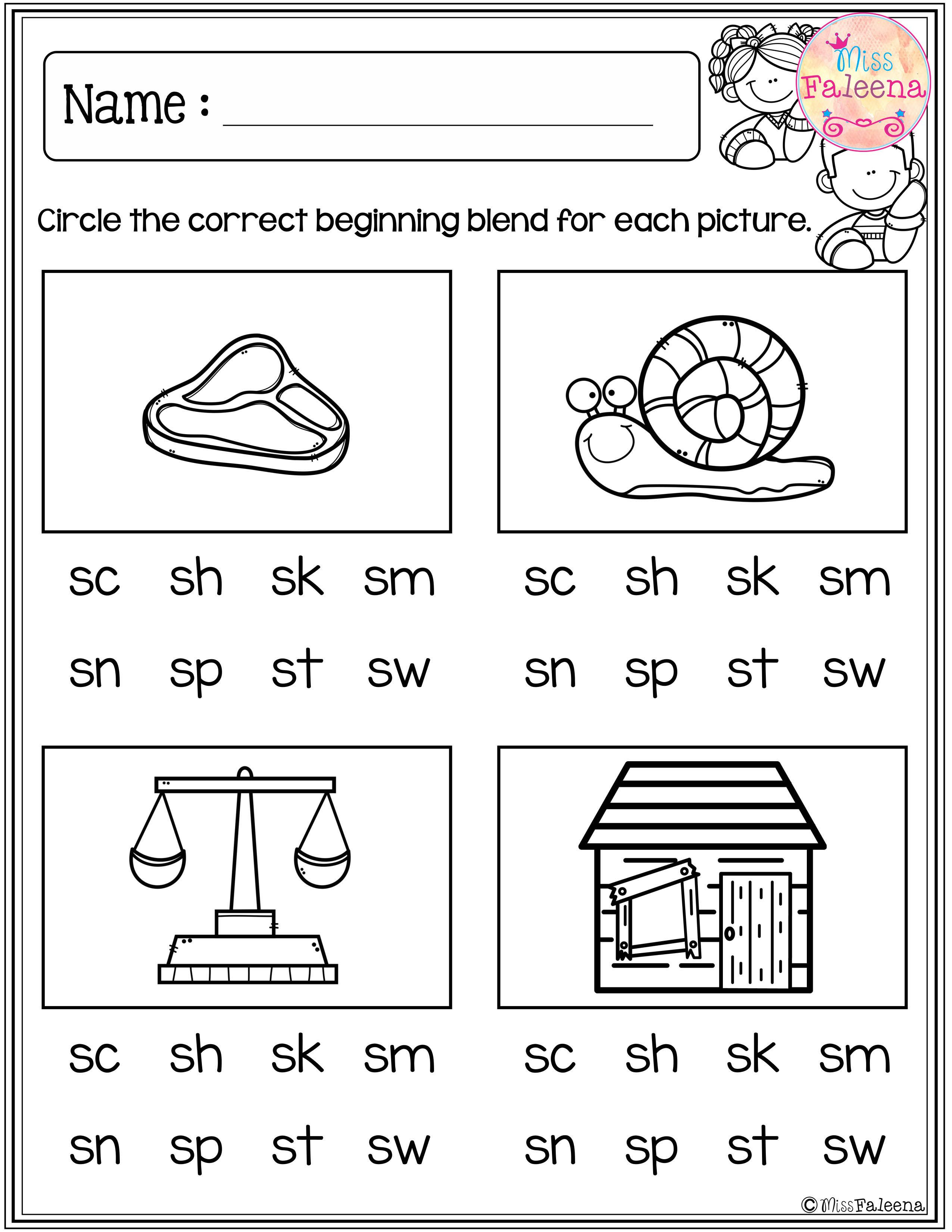 hight resolution of These are FREE samples from my Beginning and Ending Activities the  Bundle.Free Beginning Blends Activi…   Blends worksheets