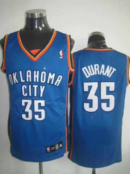 7d2818e52 Thunder  35 Kevin Durant Stitched Blue NBA Jersey
