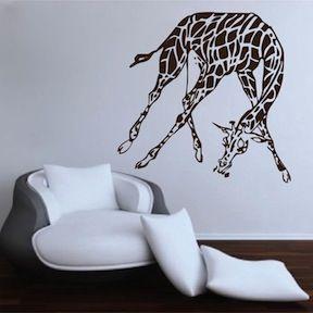 African Giraffe Wall Decal Vinyl Wall Art From Trendy Wall Designs Vinyl Wall Decals Vinyl Wall Art African Giraffe