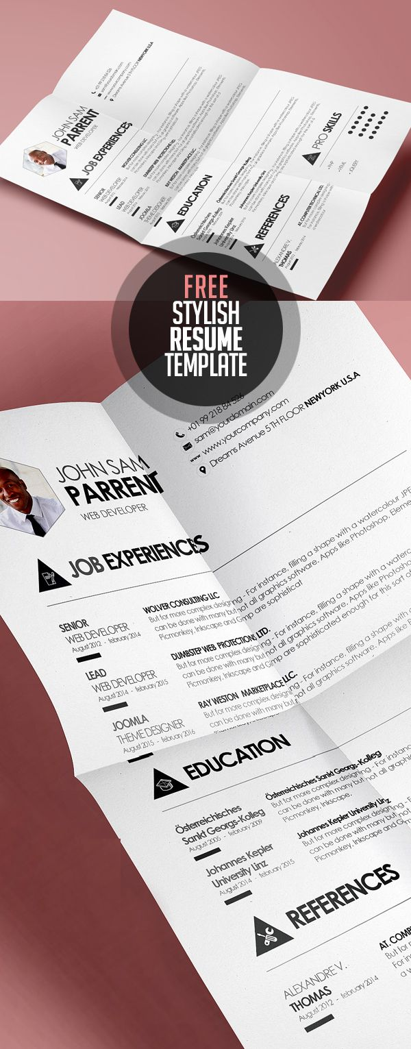 19 Free Creative CV / Resume Templates with Cover