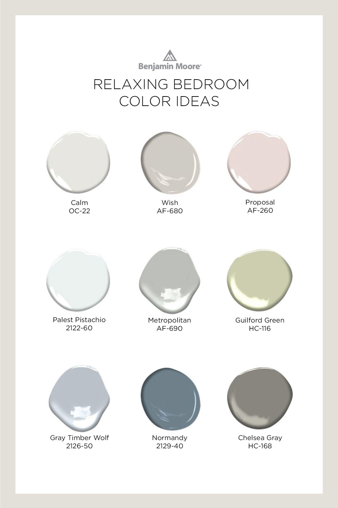 Bedroom Color Ideas Inspiration Benjamin Moore In 2020 Relaxing Bedroom Colors Small Room Paint Color Benjamin Moore Colors