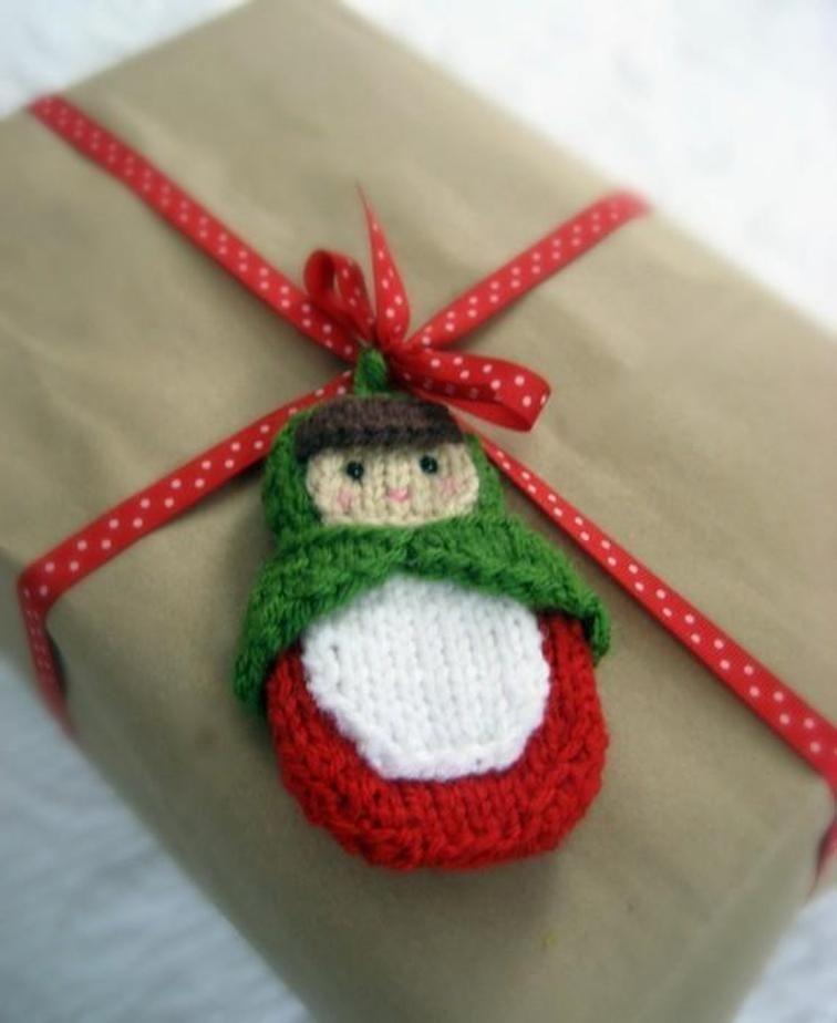 Knt Matryoshka Doll Ornament Pattern   Christmas knitting ...