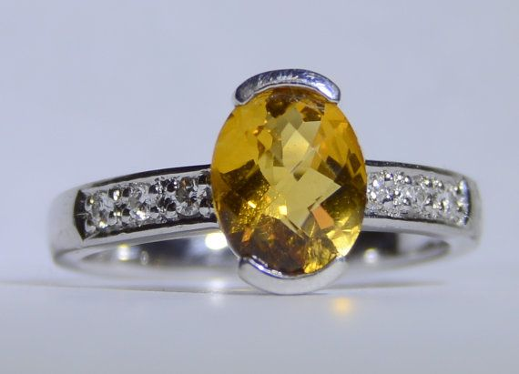 Vintage Oval Cushion Cut Citrine Stone and by LadyLibertyGold