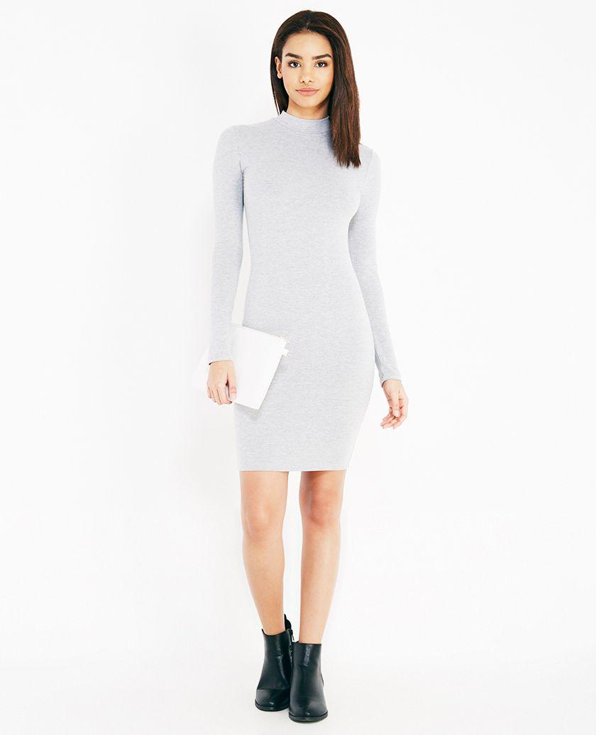 Mock Neck Bodycon Dress | Wet Seal