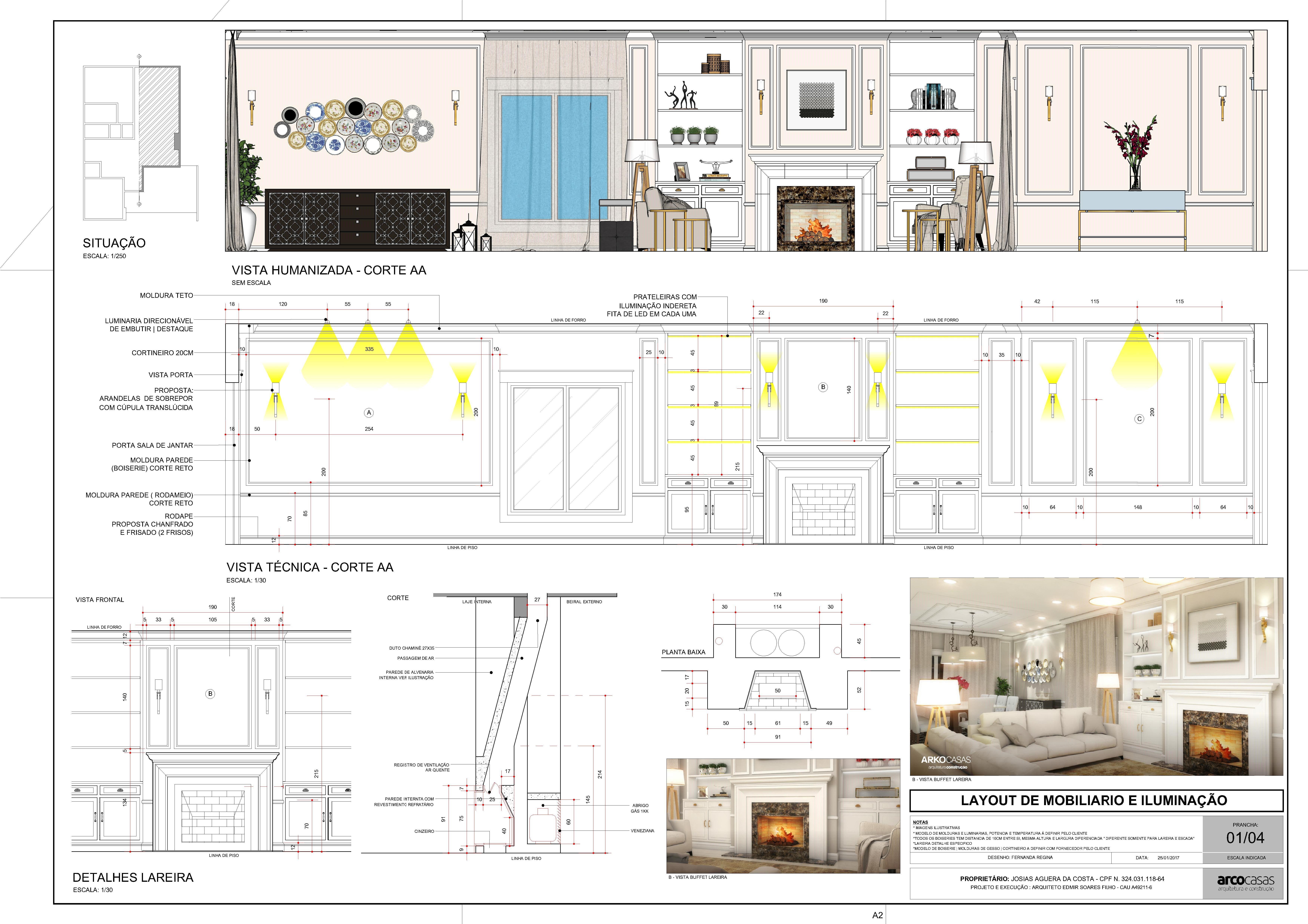 Projeto De Pagina O Boiserie Ilumina O Interior 3d Ilustra O