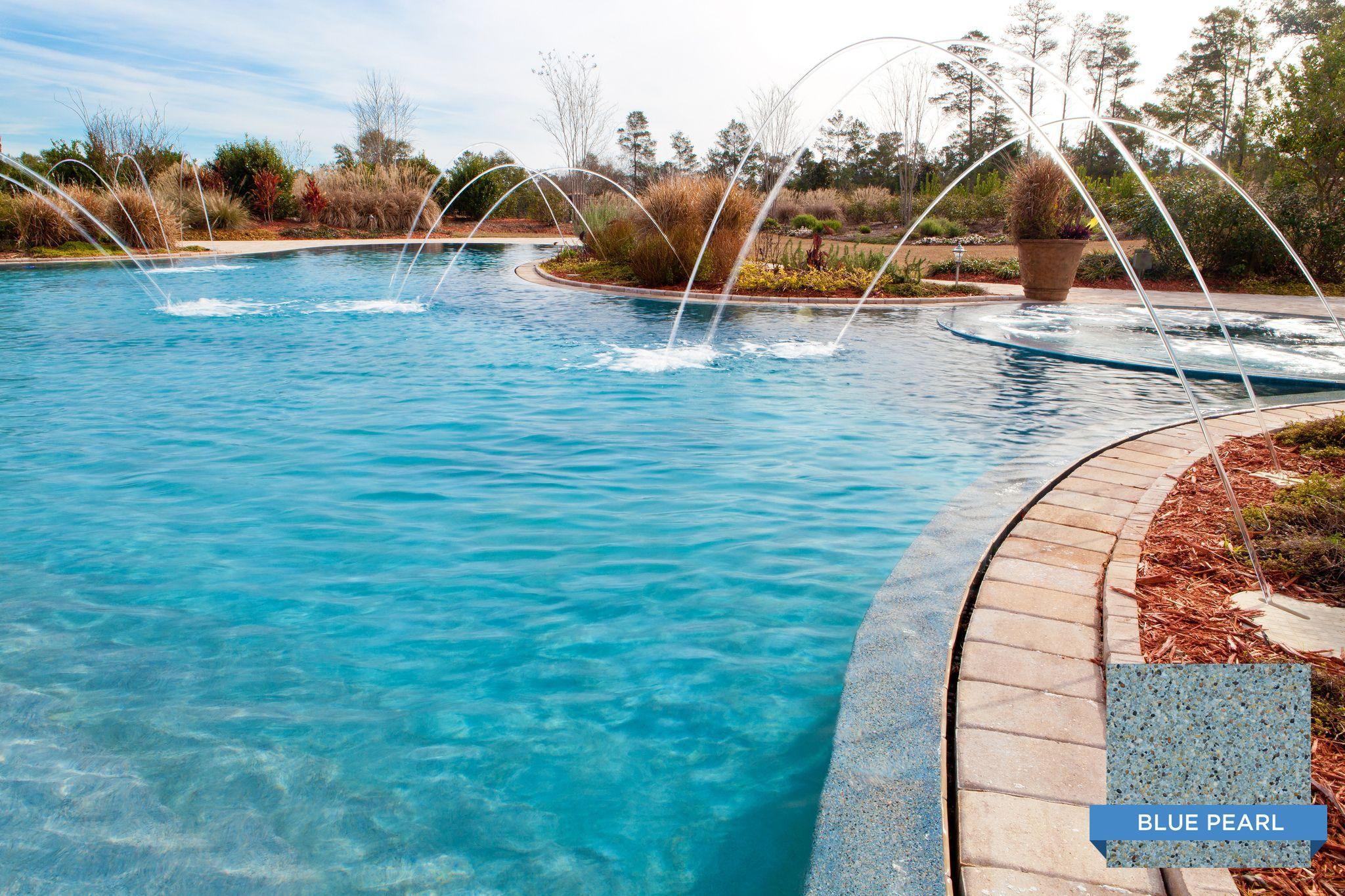 Sunstone Pearl Blue Pearl Makes This Pool Sparkle Nice Pool Cox Pools Of Panama City Fl