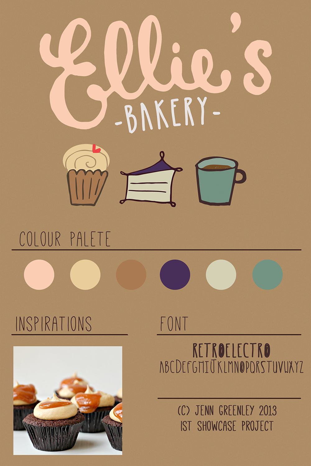 Ellie's bakery branding for school showcase project | DESIGN