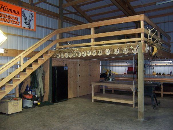 Pin by dyana ellis on warehouse pinterest barn shop for Pole barn with loft