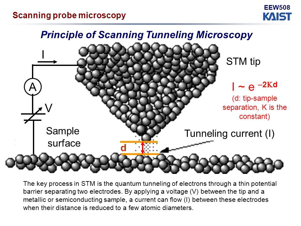 STM principle - The AFM was developed as a variant of the scaninning