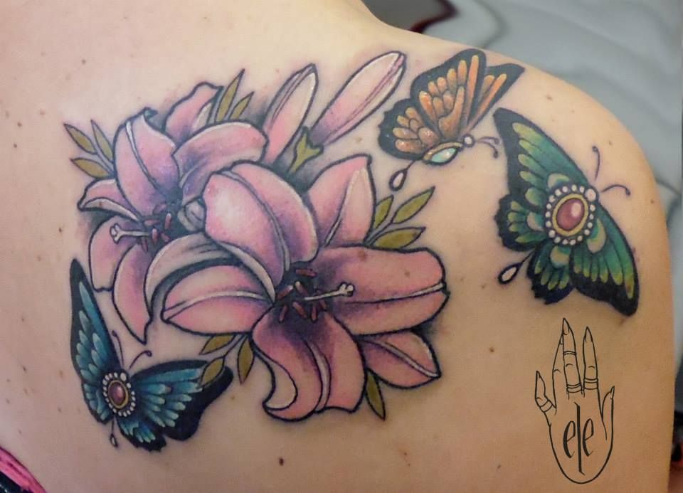 Neo Traditional Butterfly Tattoo Google Search Butterfly Tattoo Traditional Butterfly Tattoo Flower Tattoo Shoulder