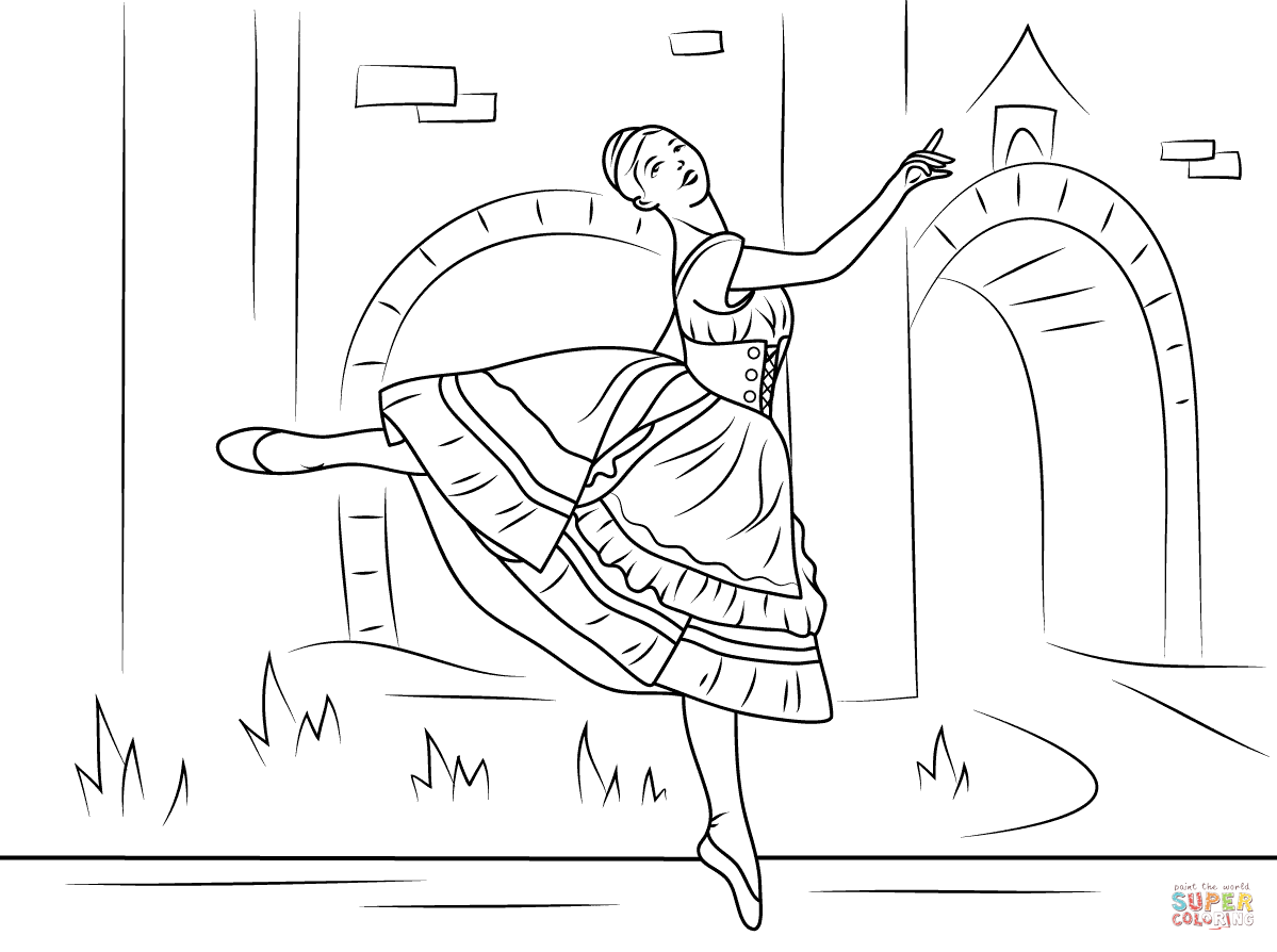 Pin by Raychie C on Dance in 2019 | Ballerina coloring pages ...