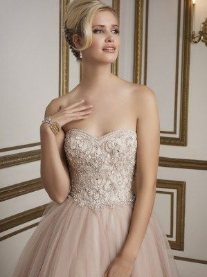 Dramatic High Waist Ball Gown With Embellished Bodice Detailing Style 8846 By Justin Alexander Wedding Gowns