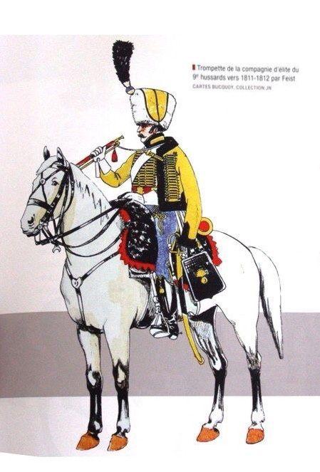 Tromba della cp. di élite del 9 rgt. ussari francese