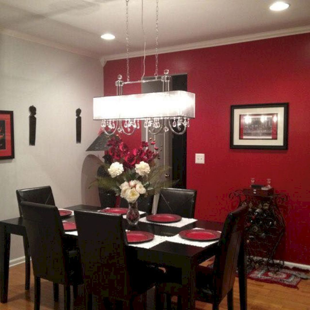 20+ Incredible Christmas Red Kitchen Wall Color Design Ideas ...