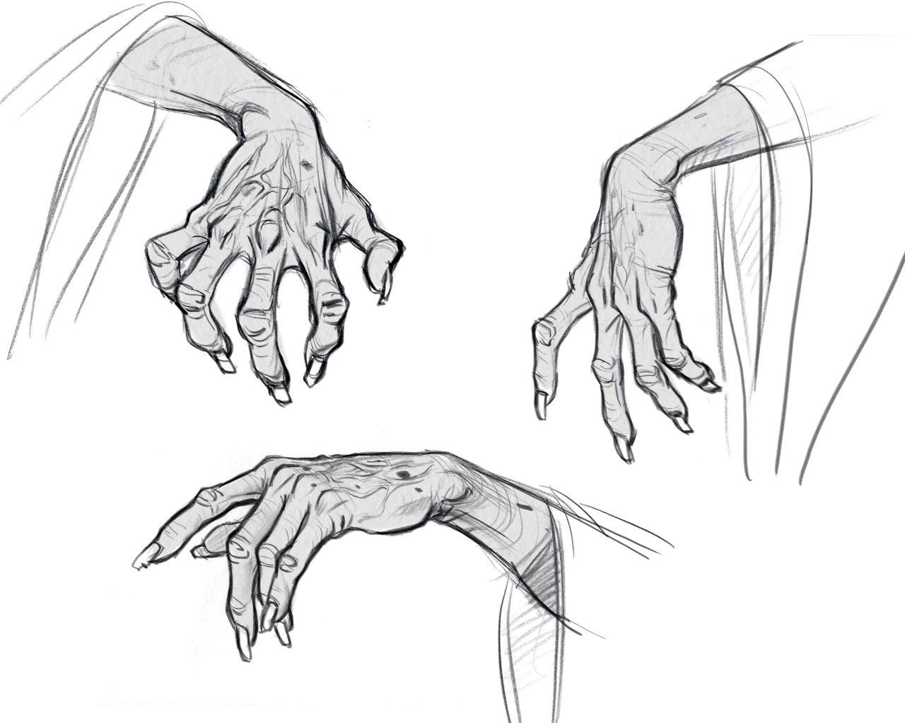 Fingerless gloves for drawing - 3d