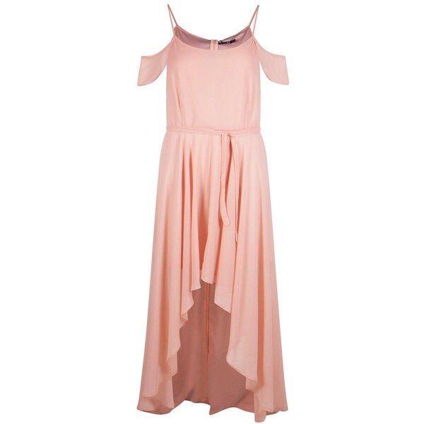 Boohoo Plus Chiffon Frill Pink Dress Size 18 Nwt | Products