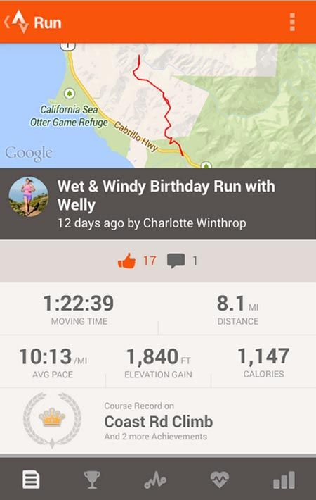 Strava Running And Cycling Gps With Images Nexus One Workout
