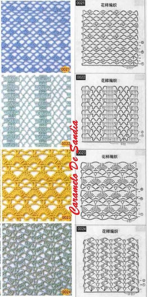 crochet charts | Crocheting knitting quilting | Pinterest | Puntos ...