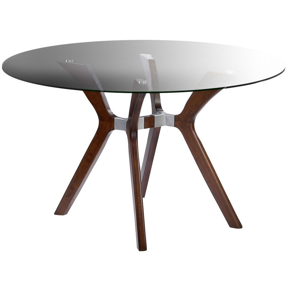 Somette Luisa Dark Walnut Round Dining Table   Overstock™ Shopping   Great  Deals On Somette Dining Tables