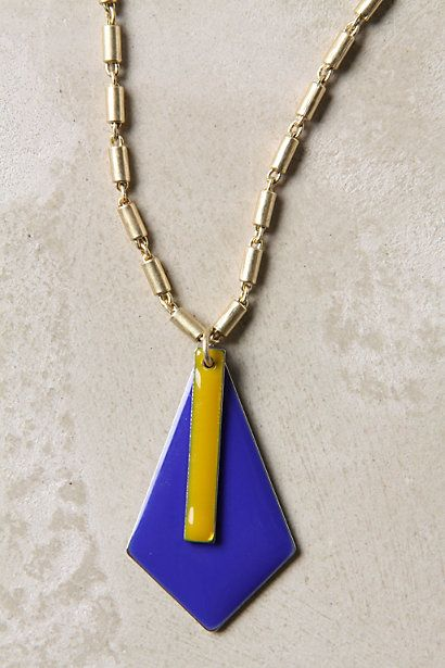 Love the chain, the blue, the 70's chic, but modern feel, only $38.