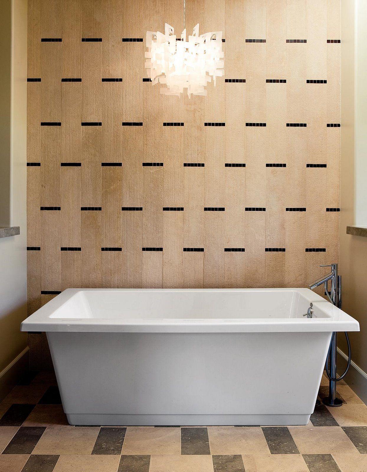 Walker Zanger Tile: Wall: Talami Wheat w/ Sobu Espresso 1\