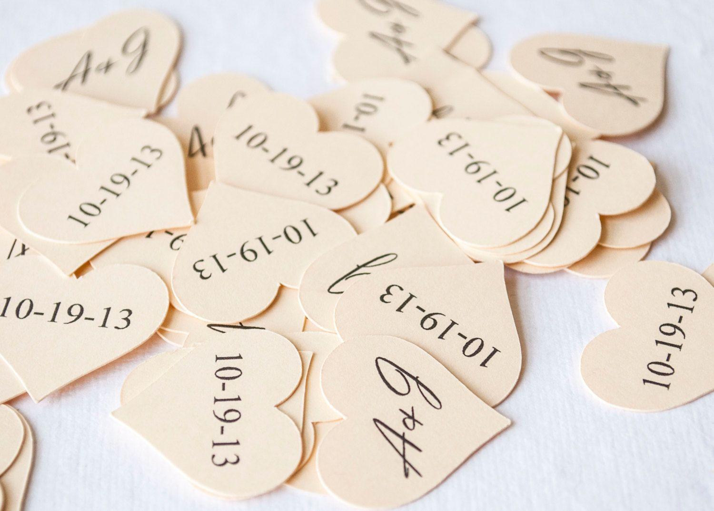 Heart Shaped Wedding Confetti, Bridal Shower Confetti, Initials ...