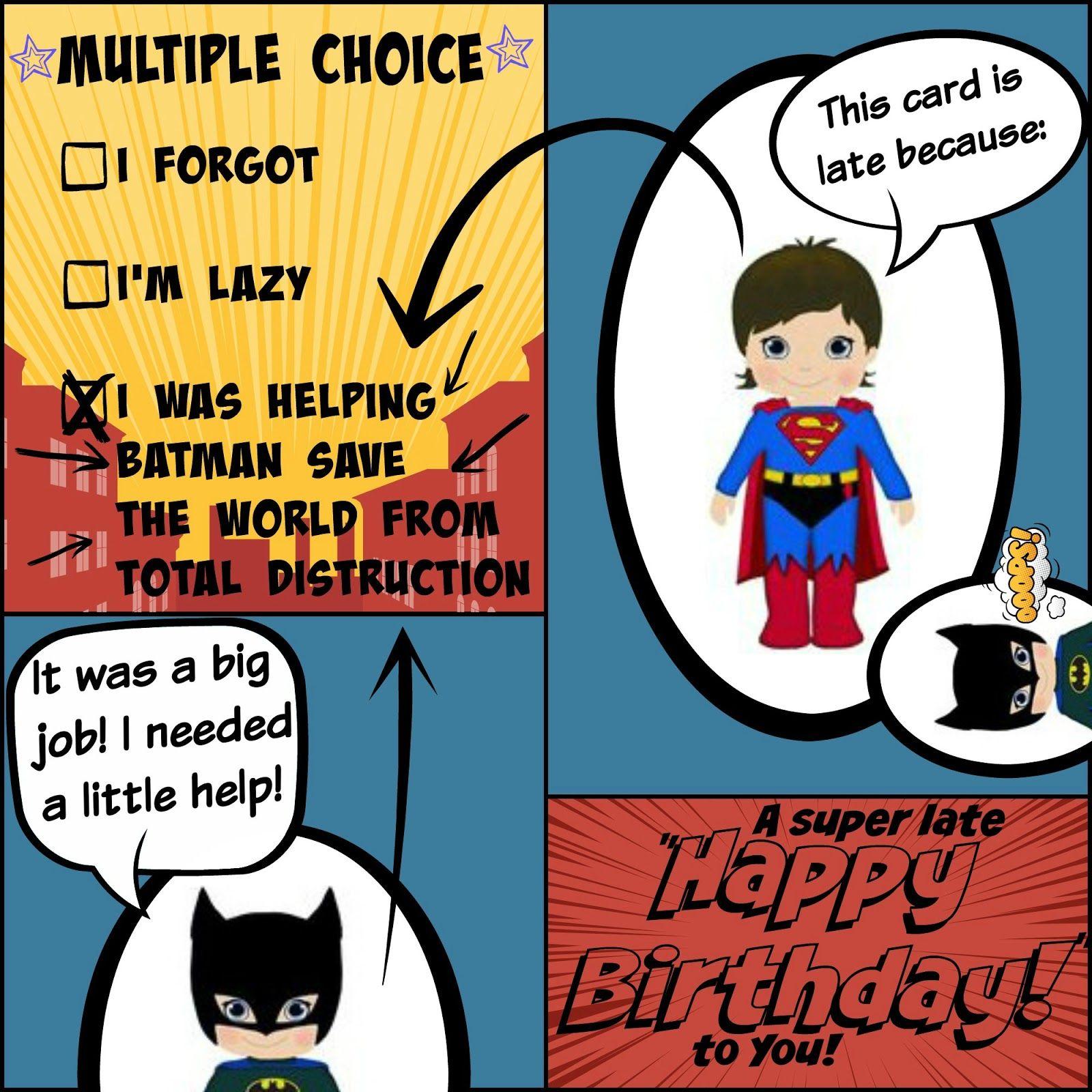 Happy Belated Birthday Printable Card
