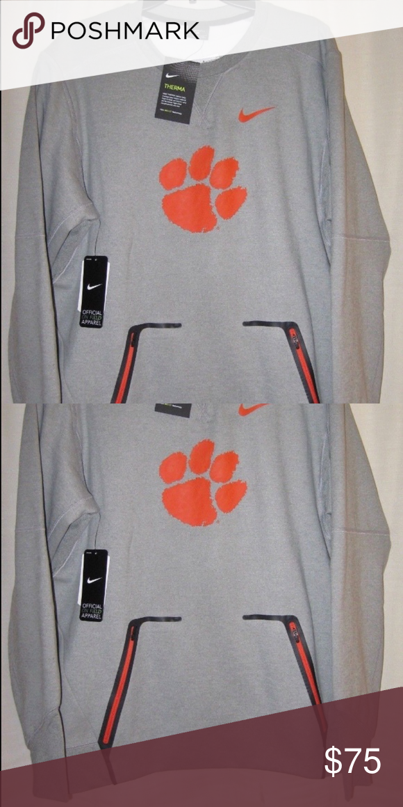 68f5b2d6dc92 CLEMSON Nike Vapor Speed Therma-Fit crew neck NWT Clemson Nike Champ Drive  Vapor Speed