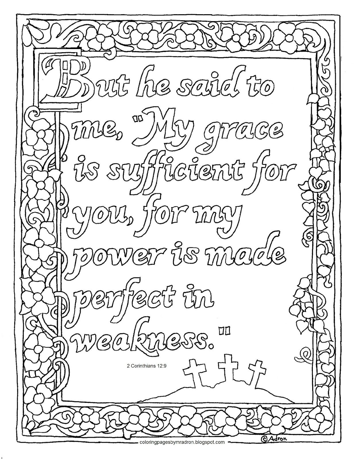 Printable Coloring Page Matthew 6 28 29 The Lilies Of The Field
