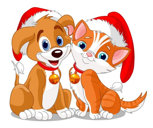 Images Of Cute Kitten Christmas Clipart Cane E Gatto Natalizi
