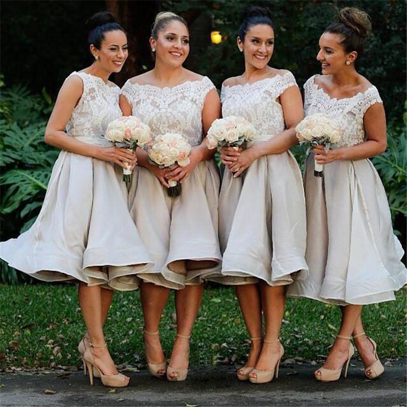 Bridesmaid Gown White Bridesmaid Dresses Short Bridesmaid Gown Summer Bri Short Lace Bridesmaid Dresses Knee Length Bridesmaid Dresses Short Bridesmaid Dresses