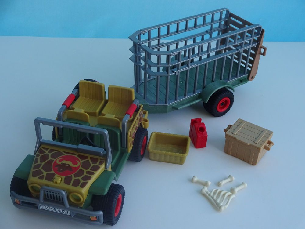 playmobil 5904 safari series jeep rhino cage geobra. Black Bedroom Furniture Sets. Home Design Ideas