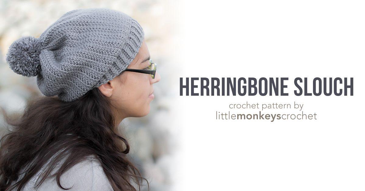 Herringbone Slouch | Pinterest | Gorros