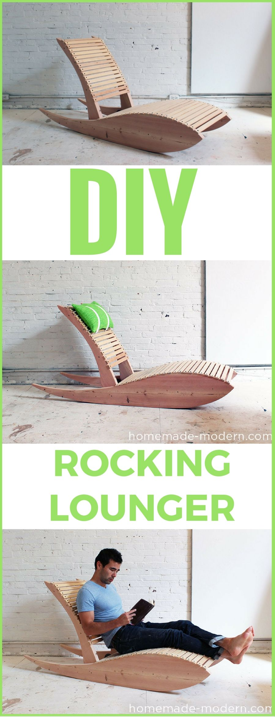 DIY Rocking Lounger  http://vid.staged.com/D1gt Great Project From Homemade…