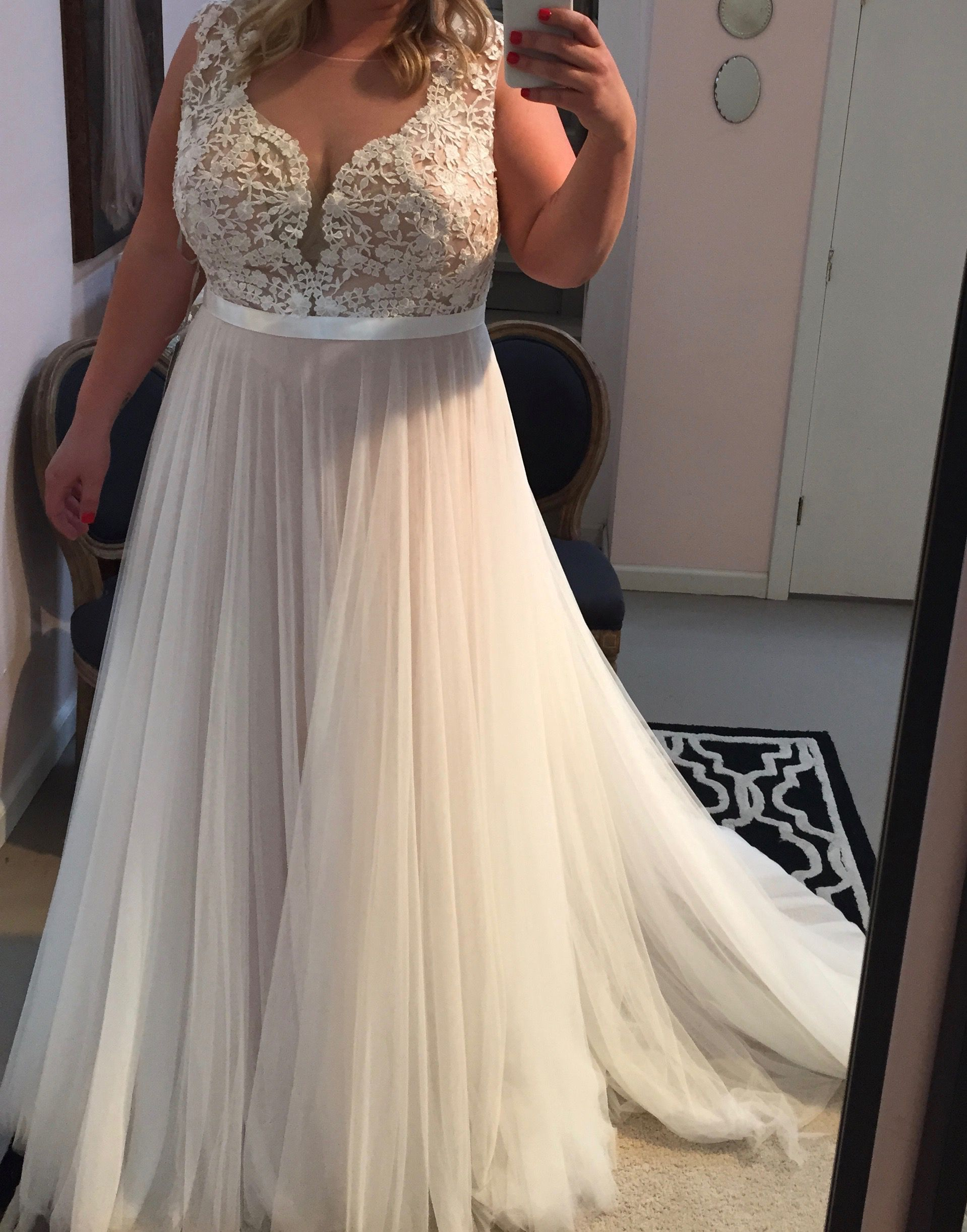 Plus size wedding dress beach wedding dress wedding for Wedding dresses for larger sizes