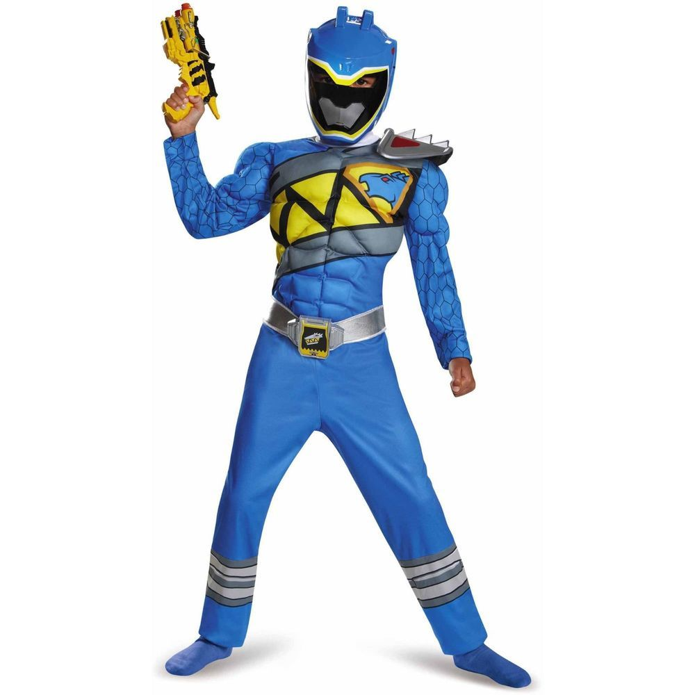 NWT Saban\'s Power Rangers Dino Supercharge Blue Ranger Muscles ...