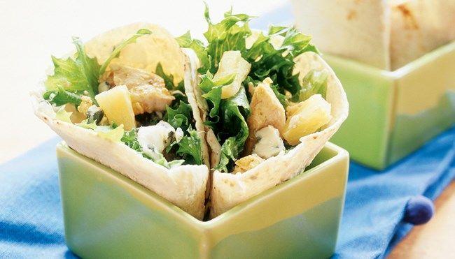 Broileri-sinihomejuustowrapit - K-ruoka