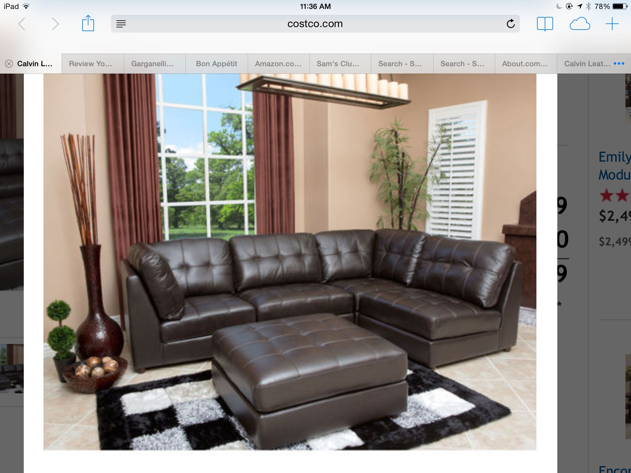 Sofa possible costco | Modular sectional, Sectional living ...