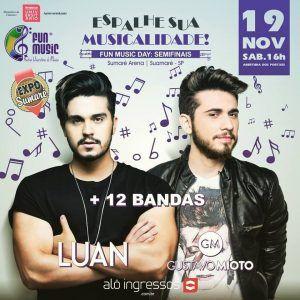 Luan Santana e Gustavo Mioto se apresentam em Sumaré/SP no dia 19 de novembro